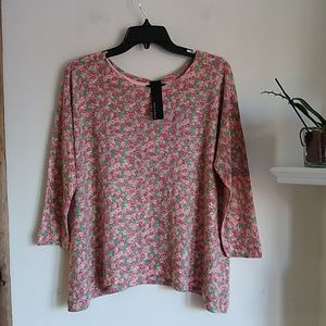 Nally & Millie floral tunic sweater OS